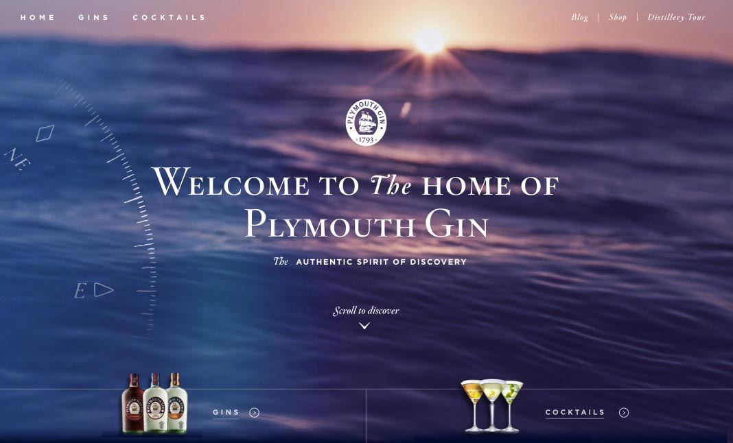 Plymouth Gin website