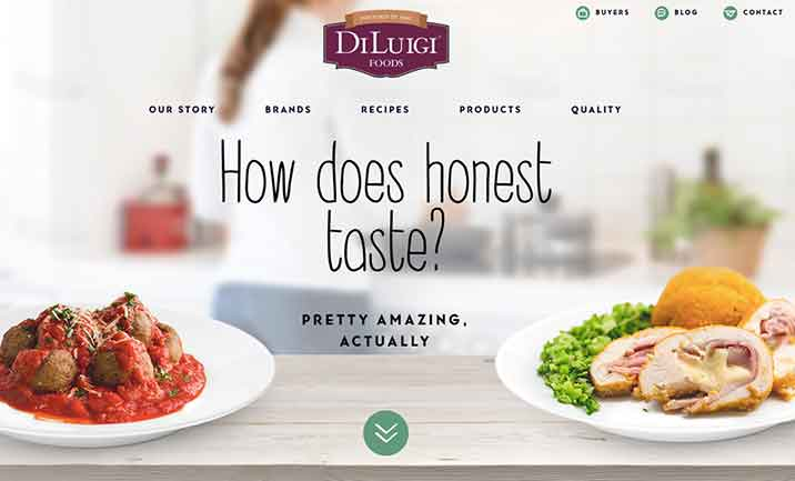 Diluigui Foods website
