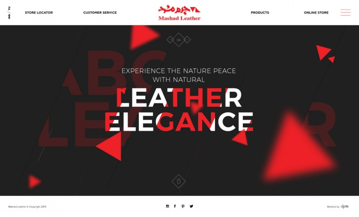 Mashad Leather website