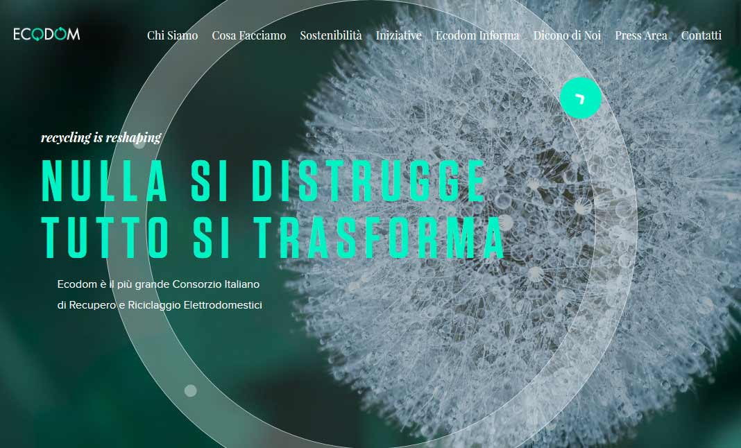 Ecodom Consorzio website