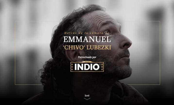 Lubezki + Indio website