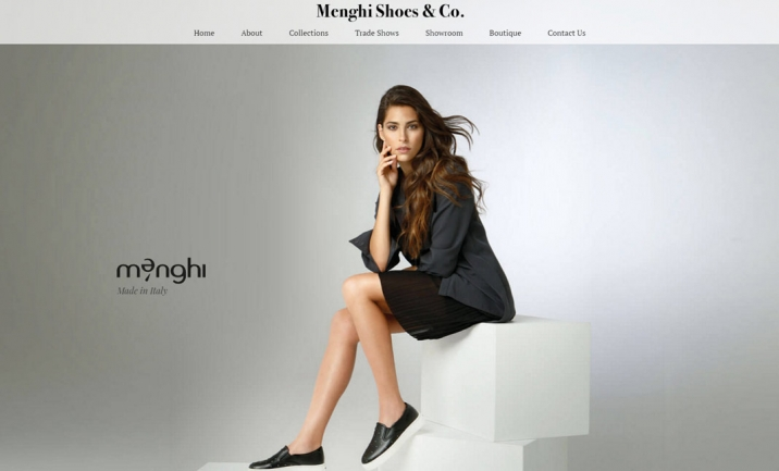 Menghi Shoes website