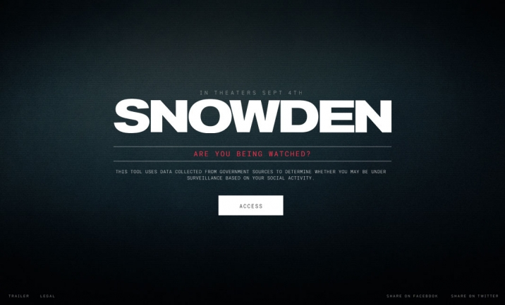 Snowden: Are you being watched? website