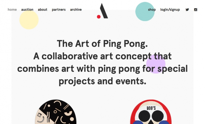 The Art of Ping Pong website