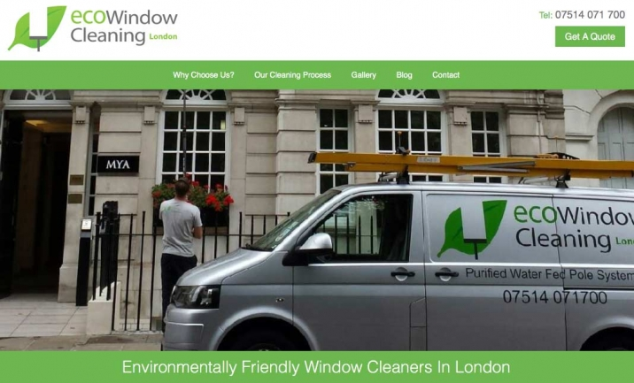 Eco Window Cleaners London website