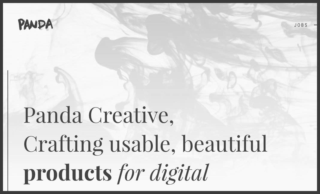 Panda Creative website