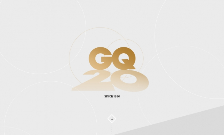 GQ Taiwan 20th Anniversary website