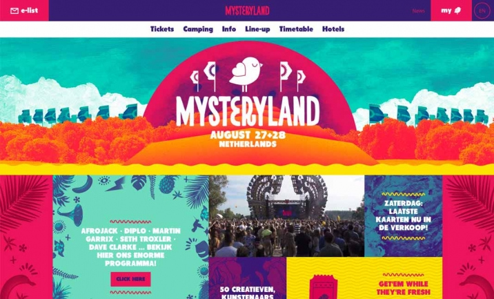 Mysteryland website