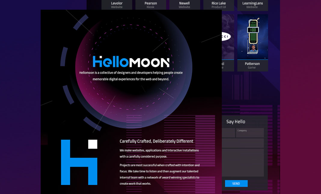 Hellomoon Design website