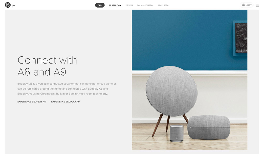 Beoplay M5 - Connecting Spaces website