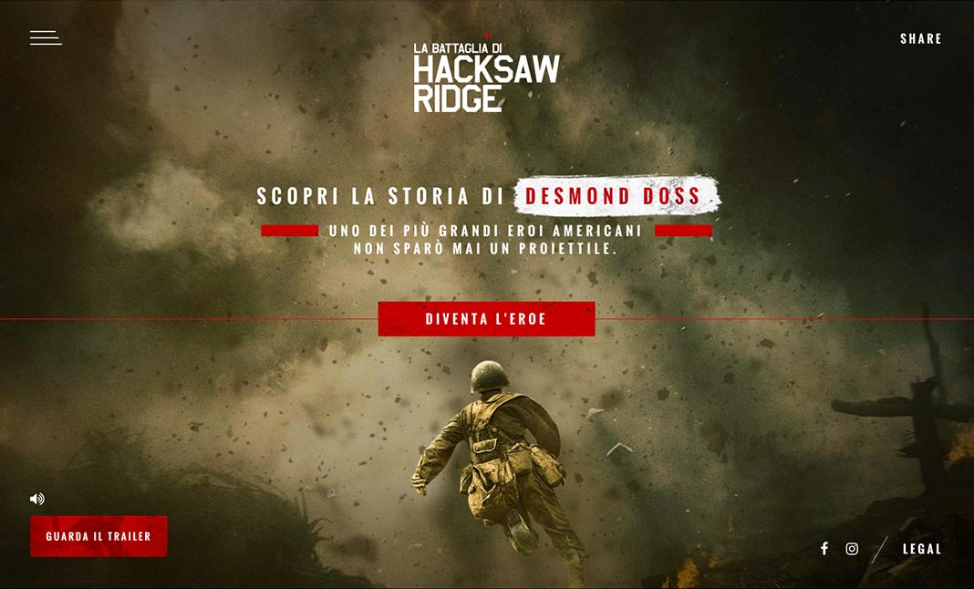 Hacksaw Ridge  website