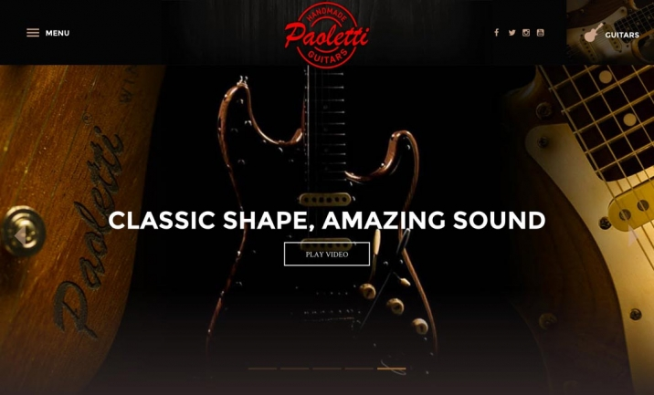 Paoletti Guitars website