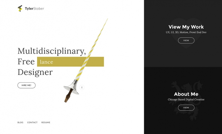 Portfolio of Tyler Stober website
