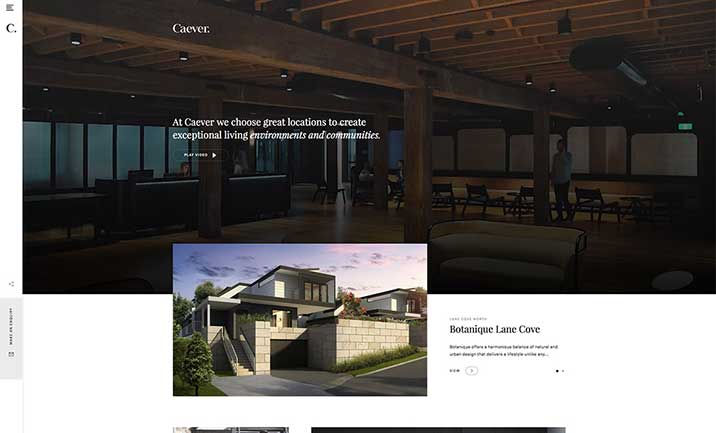 Caever Property website