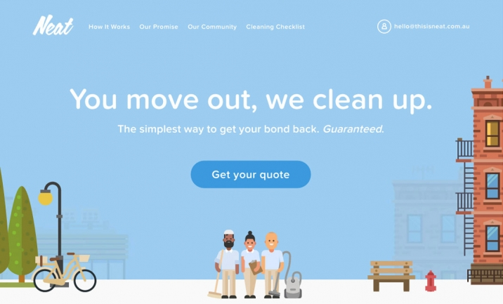 This is Neat Cleaning website