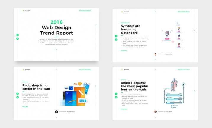 2016 Web Design Report website