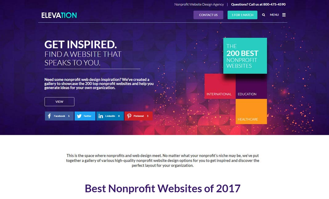 Best nonprofit websites of 2017 designed by elevation web for Top interior design websites