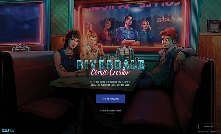 Riverdale Comic Creator website