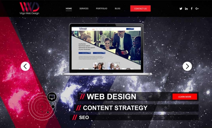 Virgo Web Design website