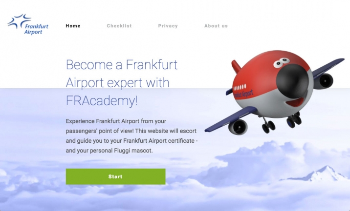 FRAcademy - Frankfurt Airport website