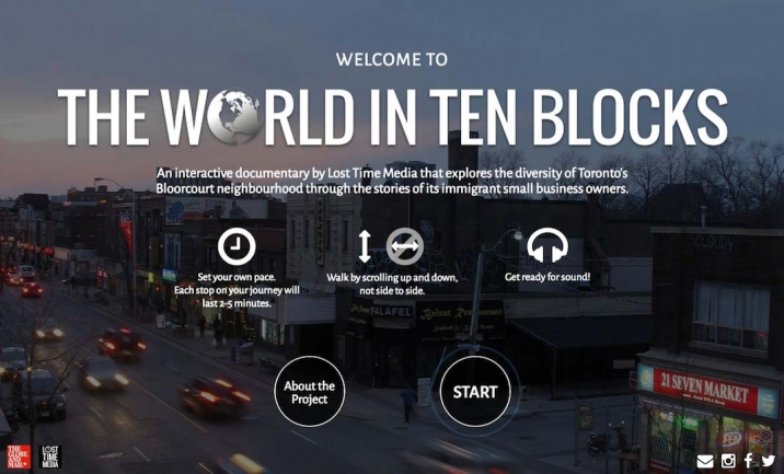 The World in Ten Blocks website