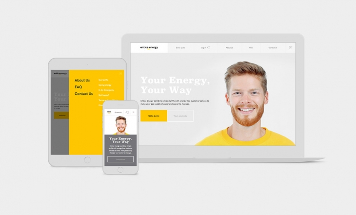 Entice Energy website