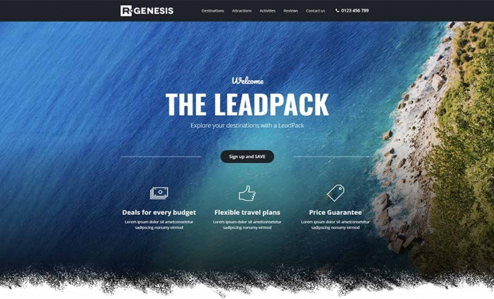 LeadPack  Landing Pages website