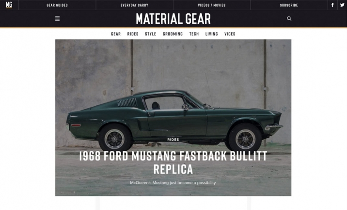 Material Gear website