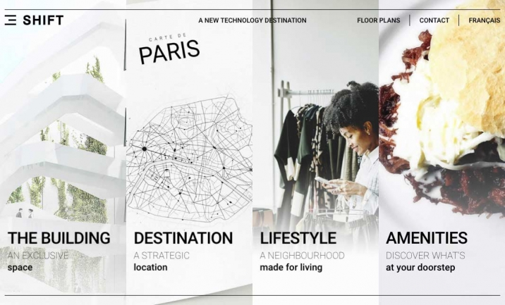 SHIFT Paris website
