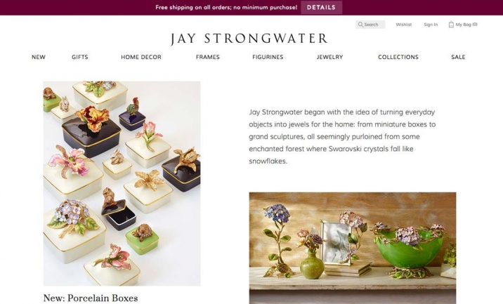 Jay Strongwater website