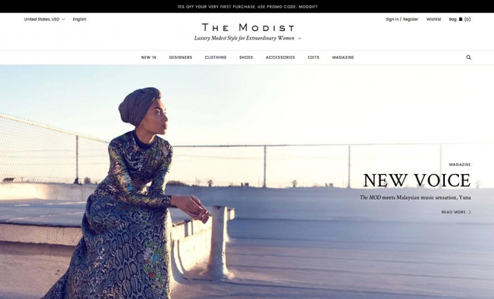 The Modist website