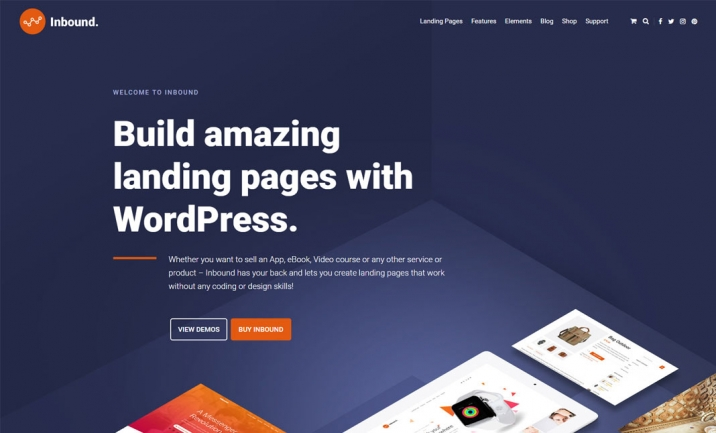 Inbound WordPress Landing Page website