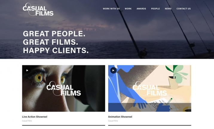 Casual Films website