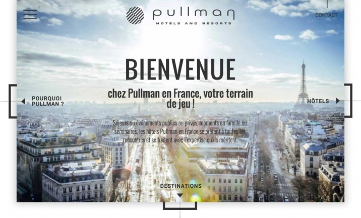 Pullman Hotels France website