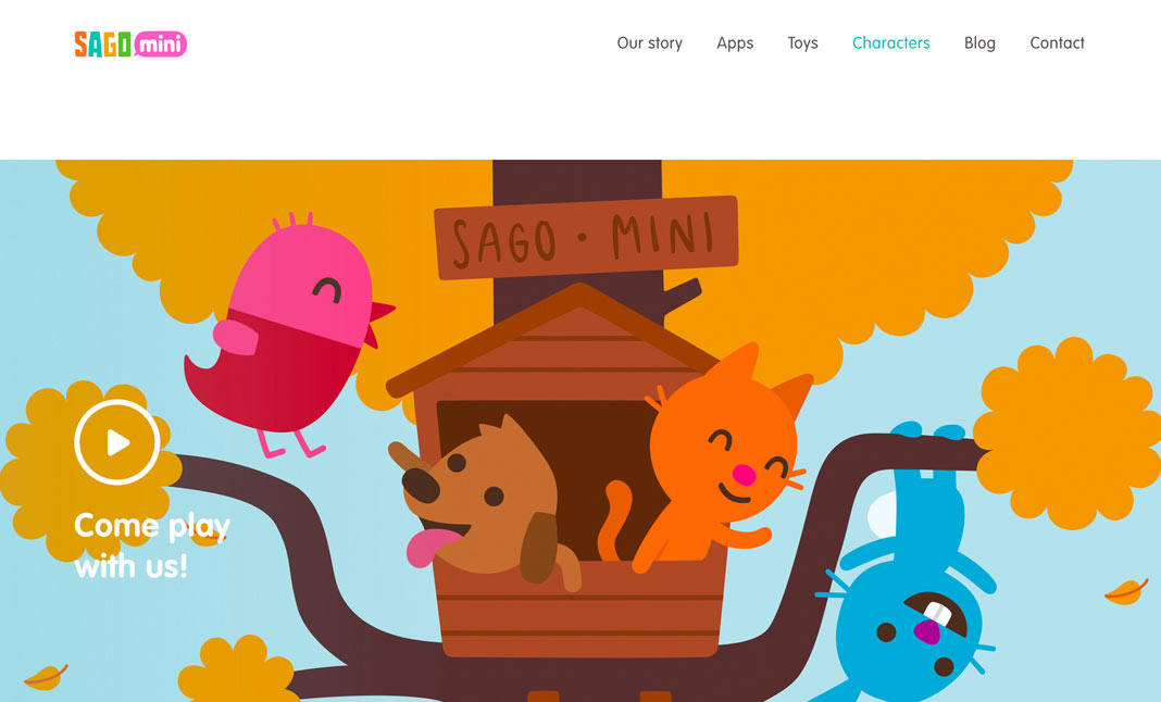 Sago Mini website