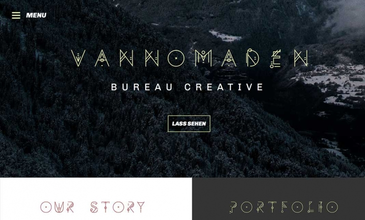 Vannomaden - Bureau Creative website