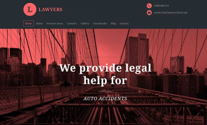 Lawyers Attorney WordPress Theme website