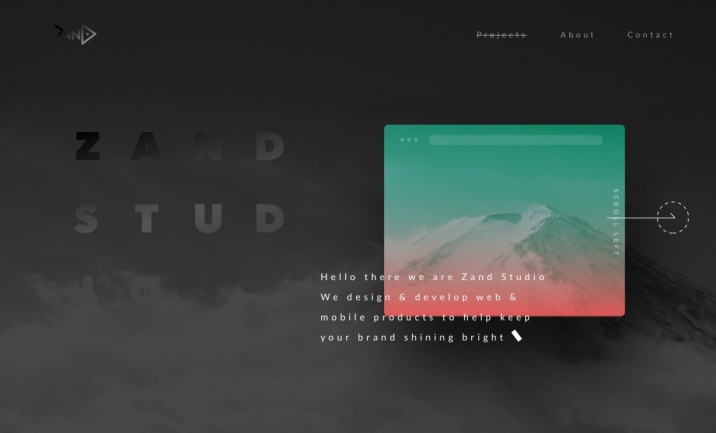 Zand Studio website
