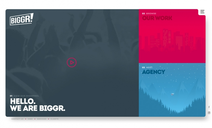 Biggr - Creative Agency website