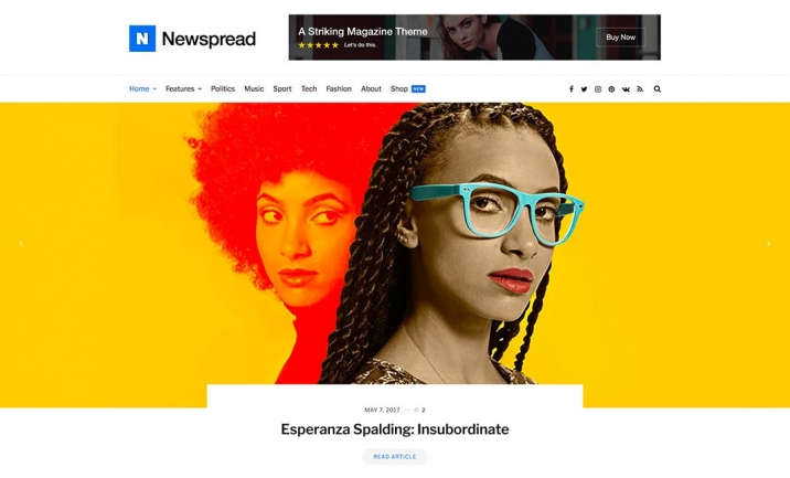 Newspread WordPress Theme website