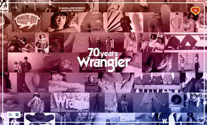 70 Years of Wrangler website