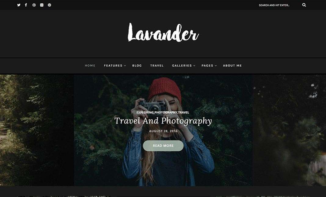 Lavander - A Lifestyle Blog website