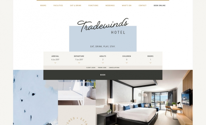 Tradewinds Hotel website