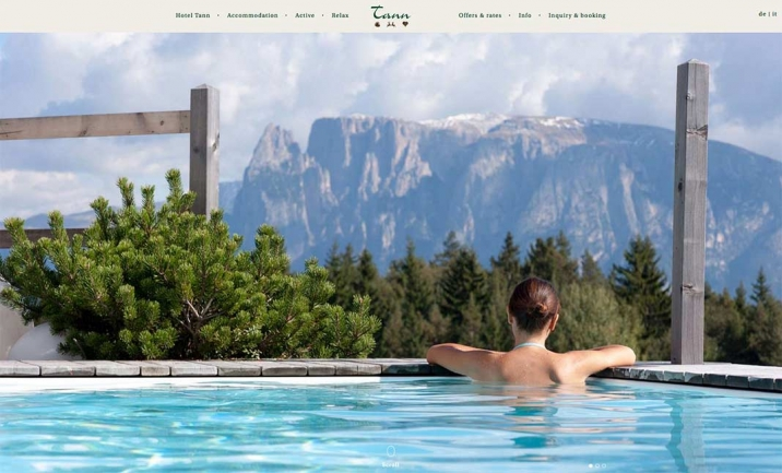 Hotel Tann website