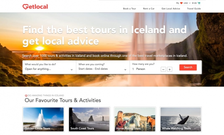 GetLocal Iceland website