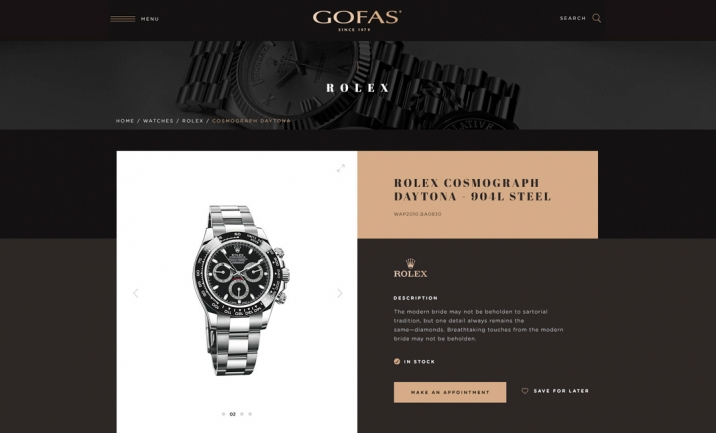 Gofas Jewerly website