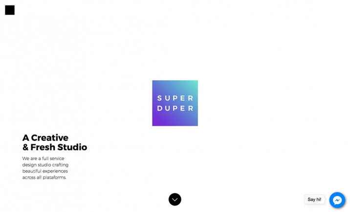 Super Duper Studio website