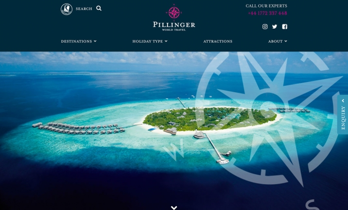 Pillinger World Travel website