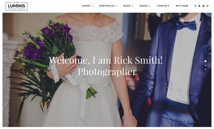 Luminis Photography Theme website
