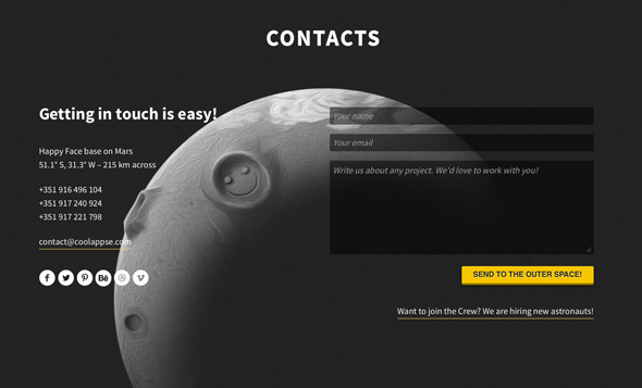 30 Fresh & Inspiring Contact Page + Form Designs